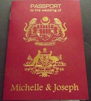 passport foil stamped invitation m