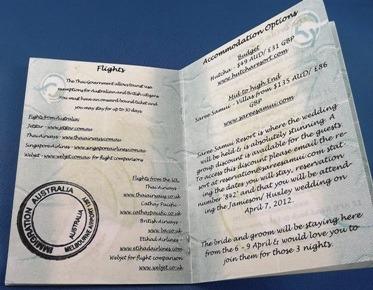 passport invitation card